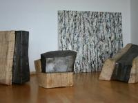 Holz/Eisenskulpturen 2004/2005